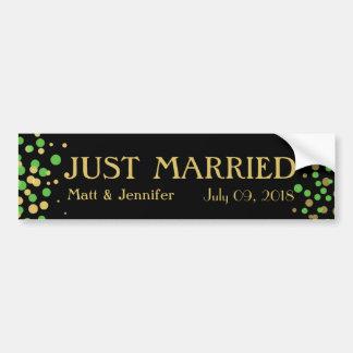 Celebrate Love – Spring Green + Gold Bumper Sticker