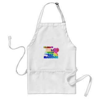 Celebrate Love-Support Gay Marriage Adult Apron