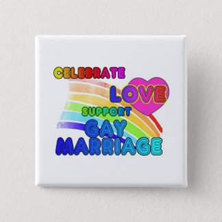 Celebrate Love-Support Gay Marriage Pinback Button