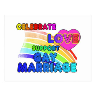 Celebrate Love-Support Gay Marriage Postcard