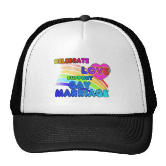 Celebrate Love-Support Gay Marriage Trucker Hat
