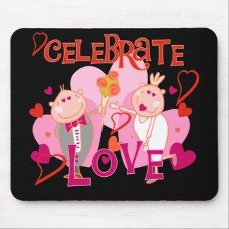 Celebrate Love Valentine Mouse Mat