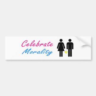 Celebrate Moral, Traditional Marriage Bumper Sticker
