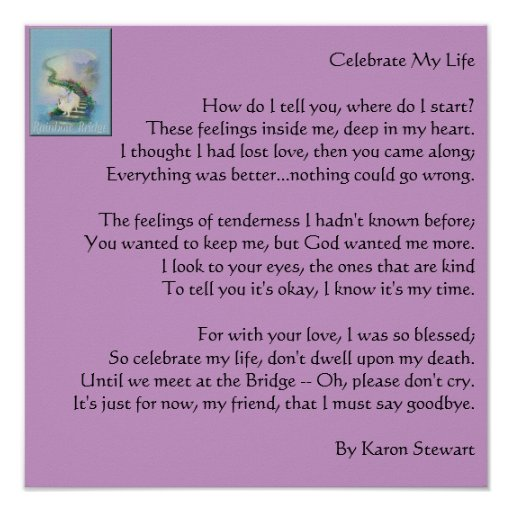 Celebrate My Life Poster