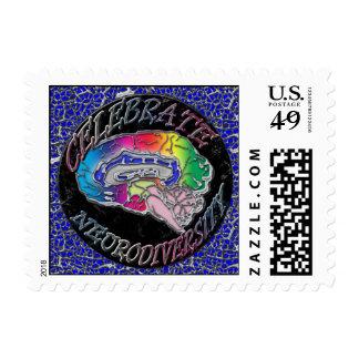 Celebrate Neurodiversity Blue stamp