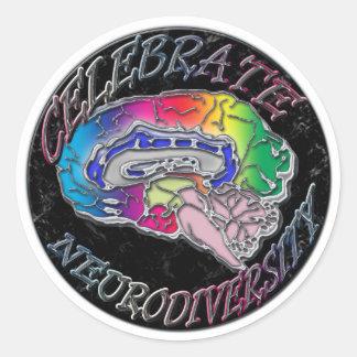 Celebrate Neurodiversity Classic Round Sticker