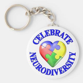 Celebrate Neurodiversity Key Chain
