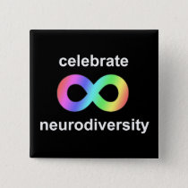 Celebrate neurodiversity pinback button