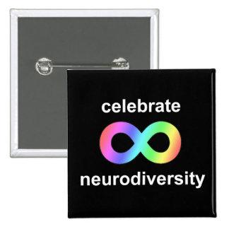 Celebrate neurodiversity pinback button
