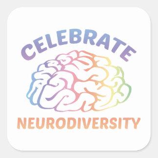 Celebrate Neurodiversity Square Sticker