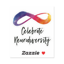 Celebrate Neurodiversity watercolor infinity Sticker