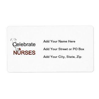 Celebrate Nurses T-shirts and Gifts Label