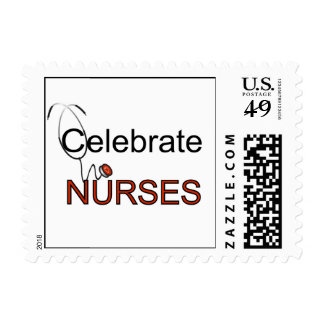 Celebrate Nurses T-shirts and Gifts Stamp