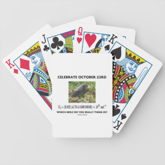Celebrate October 23rd Which Mole Really Think Of? Bicycle Playing Cards