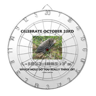 Celebrate October 23rd Which Mole Really Think Of? Dartboard