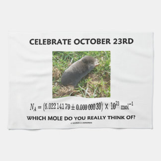 Celebrate October 23rd Which Mole Really Think Of? Hand Towels