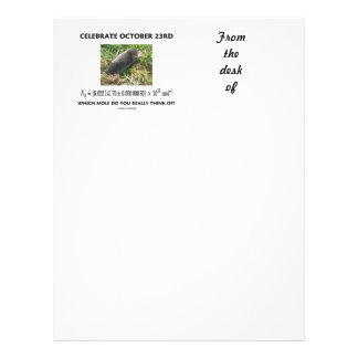 Celebrate October 23rd Which Mole Really Think Of? Letterhead
