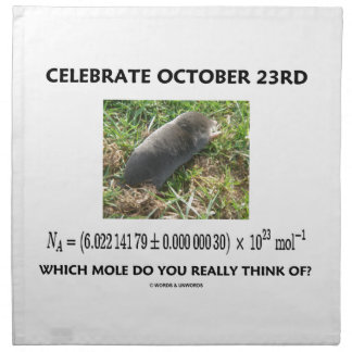 Celebrate October 23rd Which Mole Really Think Of? Napkin