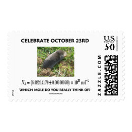 Celebrate October 23rd Which Mole Really Think Of? Postage
