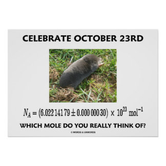 Celebrate October 23rd Which Mole Really Think Of? Poster