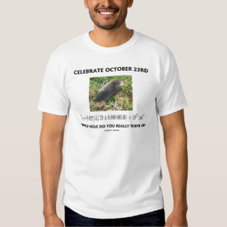 Celebrate October 23rd Which Mole Really Think Of? Tee Shirt
