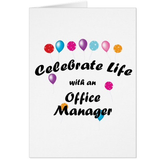 Celebrate Office Manager Card