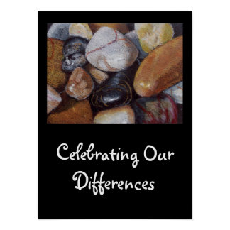 CELEBRATE OUR DIFFERENCES ART POSTER