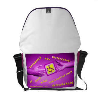 cElEbRaTe OuR dIfFeReNcEs Messenger Bag