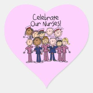 Celebrate Our Nurses Heart Sticker
