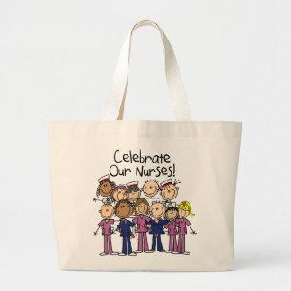 Celebrate Our Nurses Large Tote Bag