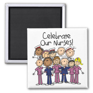 Celebrate Our Nurses 2 Inch Square Magnet