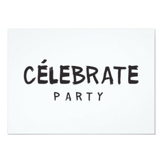 CÉLEBRATE PARTY Birthday Invitation Fashion Modern