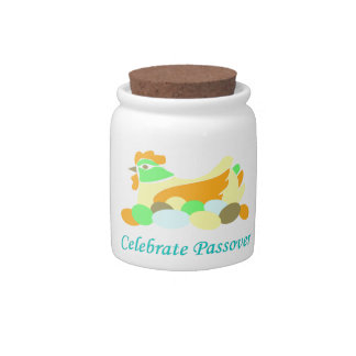 Celebrate Passover Chicken Candy Jars