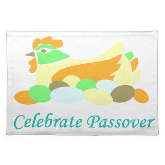 Celebrate Passover Chicken Cloth Place Mat