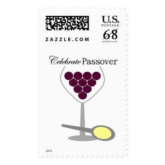 Celebrate Passover Seder Postage Stamp
