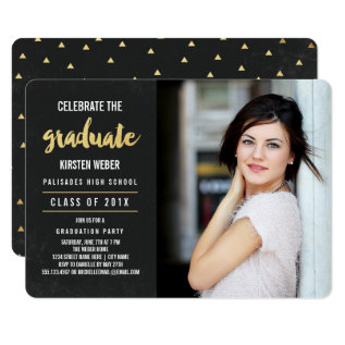 Celebrate | Photo Graduation Party Invitation at Zazzle