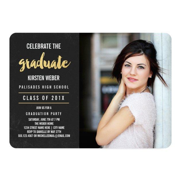 Celebrate | Photo Graduation Party Invitation