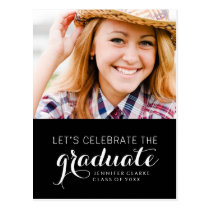 CELEBRATE PHOTO GRADUATION PARTY INVITATION POSTCARD