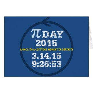 Celebrate Pi Day 2015 greeting card