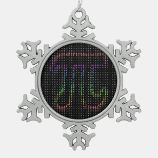 Celebrate Pi Day | Cool Geek Gigfts Snowflake Pewter Christmas Ornament