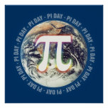 Celebrate Pi Day on Earth   Math Poster