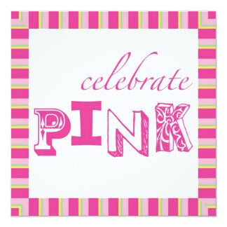 Celebrate Pink Breast Cancer Event Invitation