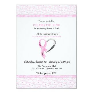 Celebrate Pink event 5x7 Paper Invitation Card