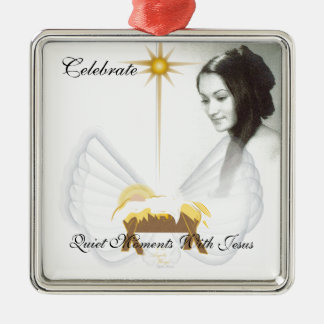Celebrate Quiet Moments With Jesus-Customize Metal Ornament