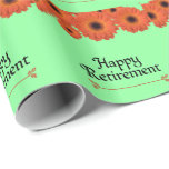 Celebrate Retirement Wrapping Paper at Zazzle