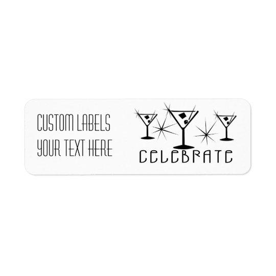 Celebrate - Retro Martinis - Black & White Label