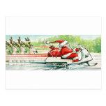 Celebrate | Santa Snowmobile Postcard