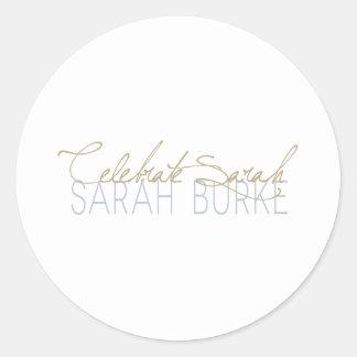 Celebrate Sarah Classic Round Sticker