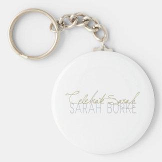 Celebrate Sarah Basic Round Button Keychain