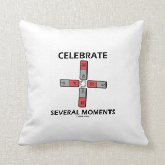 Celebrate Several Moments (Quadrupole Moment) Throw Pillow
